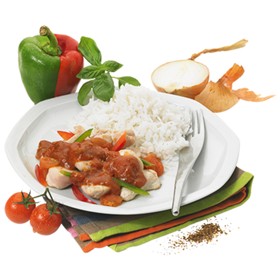 Poulet Basquaise et son riz parfumé