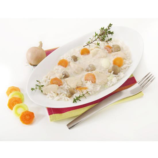 Blanquette de poulet et riz