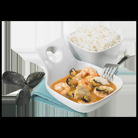 Cassolette de fruits de mer, sauce homardine
